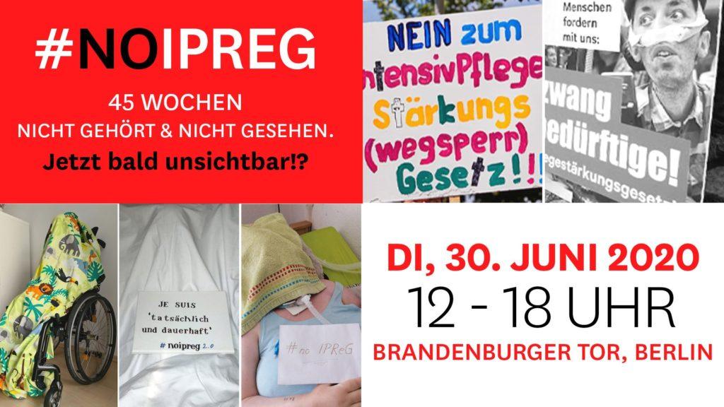 Aufruf zur warscheinlich letzten Demo gegen das IPReG am 30. Juni 2020 von 12-18 Uhr