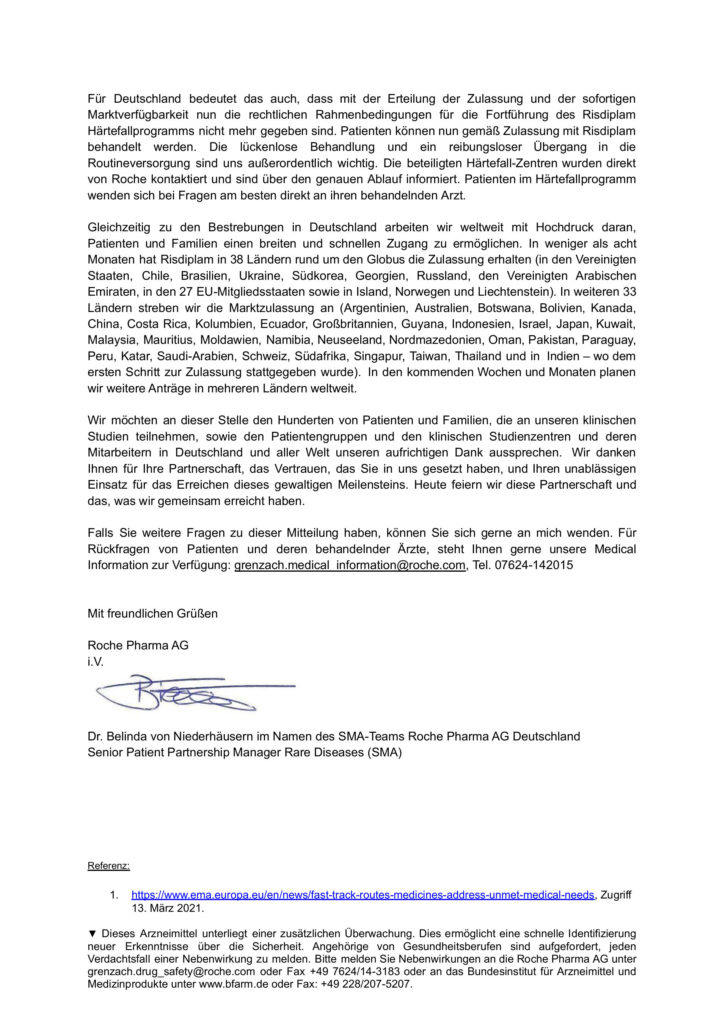 Preview Community Letter Risdiplam Zulassung Seite 2